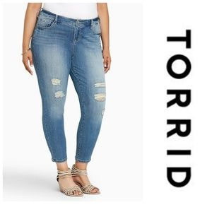 Torrid Distressed Girlfriend Jeans 10R
